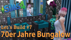 Die Sims 4 Lets Build 70er Jahre Bungalow 7 Badezimmer Youtube