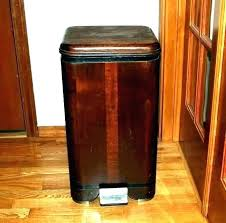 kitchen trash bin cabinet wooden trash bin for kitchen double wooden trash can double trash can