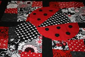 Best Photos of Ladybug Applique Quilt - Free Ladybug Quilt ... & Ladybug Quilt Applique Pattern Adamdwight.com