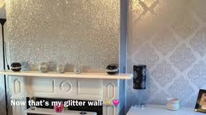 To Decorate My Living Room Decorating My Living Room Glittery Fireplace Wall Youtube