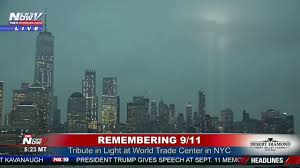 9 11 Lights Live Tribute In Light Neverforget Remembering 9 11 In New York City Fnn