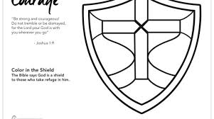 Ctr Shield Coloring Page Beautiful Faith Coloring Pages Ctr Shield