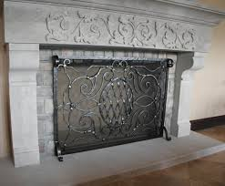 wrought iron decorative fireplace screens everything home design inside 6