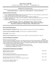 Radiologic technologist cover letter sample