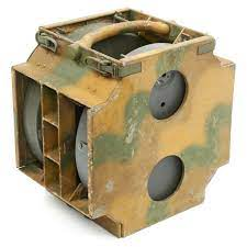 Original German WWII 1937 Tellermine Double Carrier in Normandy Camouflage  with Mines - Inert – International Military Antiques
