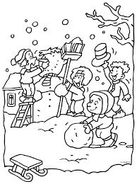 Sneeuwpop Maken Coloring Sheets Winter Winter Winter Activities