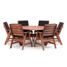 round outdoor dining sets. Plain Dining MIAMI7PCD3 Miami 7 Piece Round Outdoor Dining Set On Sets N