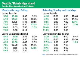 bainbridge island to seattle ferry schedule