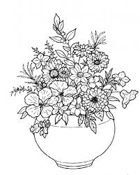 Small Picture beautiful flowers in round white plain vase coloring pages 518x643