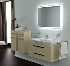 Home Decor : Bathroom Mirror With Led Lights Tv Feature Wall ...
