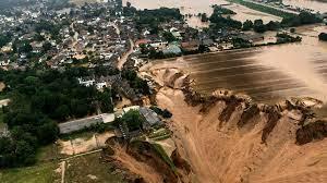 massive floods in Germany, Belgium