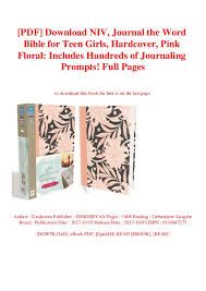 Pdf Download Niv Journal The Word Bible For Teen Girls