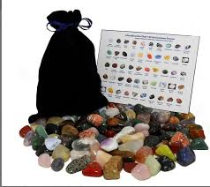 Gift 101 Stone Mixed Lot Assorted Mix Of Bulk Natural Mineral Tumbled Gemstones