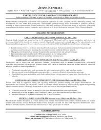 Auto Sales Resume Template Resume Cover Letter Example