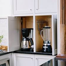 Appliance Garages Kitchen Cabinets Kitchen Cabinet Appliance Garage Aluminium Single Bowl Sink Mosaic