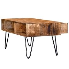 nspire rustic coffee table black