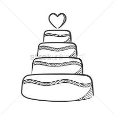 Wedding Cake Vector Image 1637213 Stockunlimited