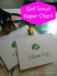 Junior Girl Scout Kaper Chart