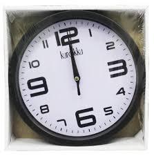 round wall clock 19 5cm wc 552j3 black