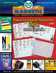 Magna Visual Chart Tape Magnetic Cardholders Planning Kits Data Cards