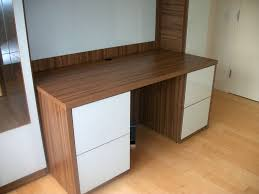 Custom desks for home office White Desk Surface And Custom Back Nieuwstadt Custom Desk With Extra Home Office Storage Contempo Space Blog