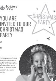 White Christmas Invitations Christmas Party Poster Invitations Black White Scripture Union