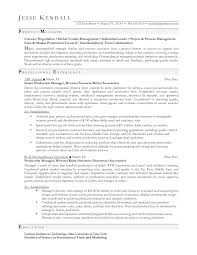 Conference Producersume Example Cv Templates Production Sample