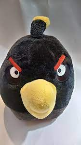 Angry Birds Bomb Huge Black 15in Plush | Etsy | Angry birds, Angry bird  plush, Angry birds bomb