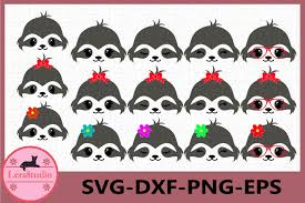 You can download this svg images for free. Sloth Face Svg Animal Face Svg Cute Sloth Eyelashes Face 513425 Cut Files Design Bundles