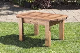 uk handmade fully assembled heavy duty wooden garden coffee side table small garden drinks table