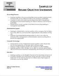 Accounting Resume Objectives Example Aliciafinnnoack