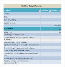 free wedding budget worksheet sample wedding budget 5 documents in word excel pdf