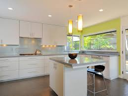 Kitchen : European Design White Kitchen Is Equipped With A Table And Chairs  Then The Chandelier And White Cabinets Coupled With A Gas Stove Also Sink  Right ...
