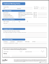 employee warning forms tyler business forms
