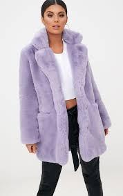 lilac premium faux fur coat 1