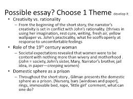 the yellow rdquo theme vs motif theme a topic large possible essay choose 1 theme develop it creativity vs