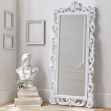 White full length mirror Plain Lennon Maisy Ornate Wood Carved Floor Mirror Pinterest 11 Fulllength Mirrors To Add Dimension To Your Space Stuff To Try