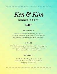 Party Menu Template Dinner Party Menu Template Free Word Wedding Leafy