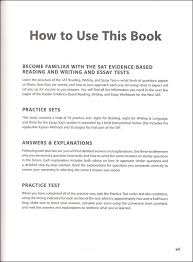 kaplan evidence based reading writing and essay workbook for the   kaplan evidence based reading writing and essay workbook for the new sat