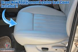 2005 2007 jeep liberty leather seat cover driver bottom gray