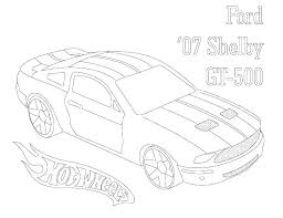 Mustang Car Coloring Pages Mdgromadaorg