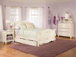 feminine bedroom furniture. Awesome White Girl Bedroom Furniture With Purple Rugs And Small Cabinet Feminine