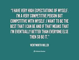 High Expectations Quotes. QuotesGram