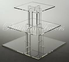 Acrylic Tiered Display Stands Amazon 100 Tier Square Acrylic Cupcake Stand Display PPS901100 16