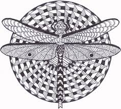 Small Picture Dragonfly Zentangle Coloring Page by InspirationbyVicki on Etsy