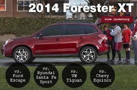 Subaru Model Comparison Chart Compare The 2014 Subaru Forester Xt To The Competition