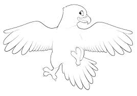 Coloring Pages Disney Stitch For Kids Online Easy Eagle Color Bird