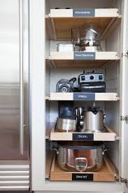 roll out shelves for tools kitchen storage and organization ideas
