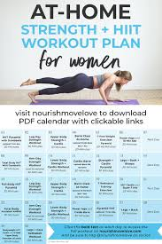 30 Day Advanced Strength Hiit Workout Plan Nourish Move Love