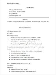 Profesional Resume Format Extraordinary Resume Format Pdf Accounts